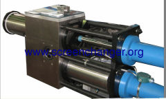 hydraulic screen changer of double-piston
