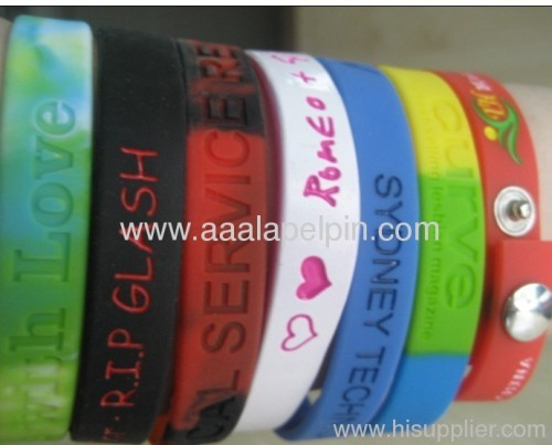 Embossed Silicone Sport Wristband