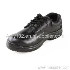 Steel toe cap safety boots/ genuine leather safety boots for