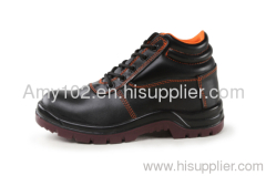 embossed leather safety shoe / black leather safety shoes for Industrial/Construction