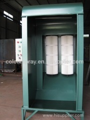 manual powder coating booth