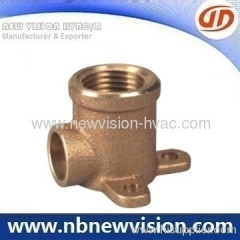 Bronze Tee with Flange