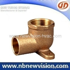 90 Degree Bronze Tee with Flange