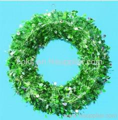beautiful plastic Christmas wreath decorations