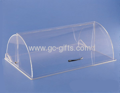 Clear acrylic dome food display case
