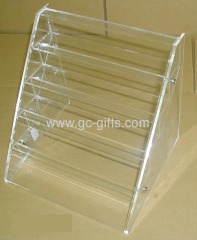 Transparent plastic gifts display case