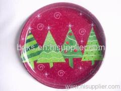 plastic Christmas round plate