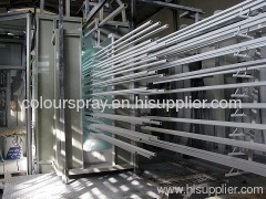 electrostatic powder spray line