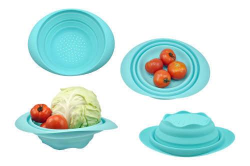 Silicone folding bowl kitchenware