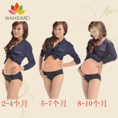 Adhesive artificial silicon belly,soft fake silicon belly ,beer belly for pregnancy