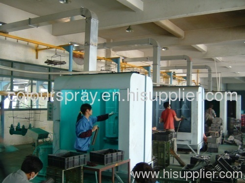 manual powder spray cabinet