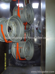 car rims powder coating line