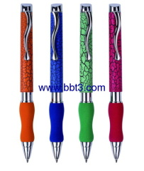 Promotional ballpen with metal clip and EVA grip