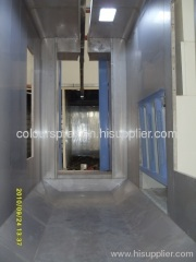 automatic powder spray booth with recovery