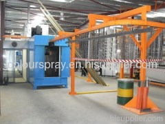 Powder coating conveyorized line