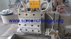 Automatic screen changer with belt mesh