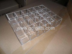 Clear acrylic display holder for 20 lipsticks