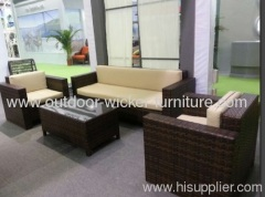 Assemble outdoor patio wicker sofa sets