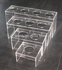 Clear acrylic display risers for retail use