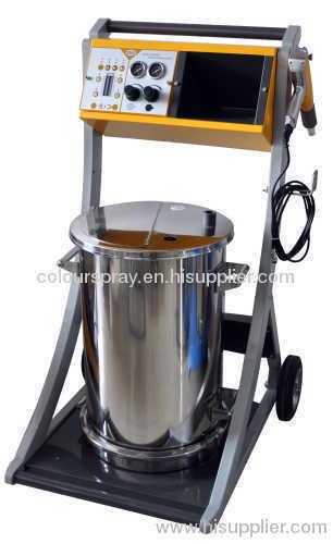 Manual powder hopper feed unit
