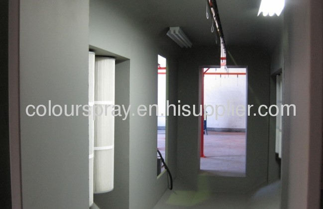 Multi cyclone powder coating booth manufacturers and for Powder coating paint booth