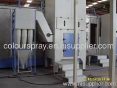 cyclone recovery system powder coat spray booth