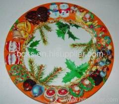 durable plastic Christmas dish trays