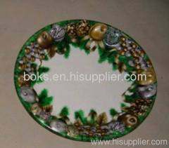 recyclable plastic Christmas dish plates