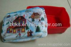 cheap plastic Christmas dish plate