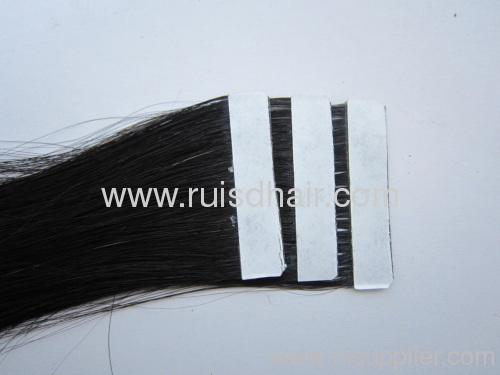 Machine made tape hair extension human hair