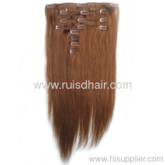 clip on/in hair extension(human hair extension with clip