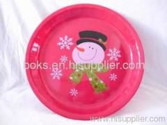 durable plastic Christmas plates PP