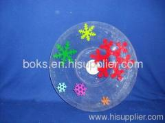 cheap round plastic Christmas plates