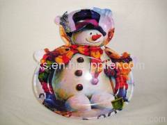 plastic Christmas candy plates