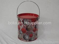 hot selling plastic Christmas storage Bucket
