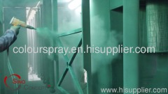 Small scale powder coating line