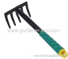 5-Teeth Portable Garden Rake Used In Garden