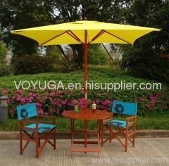 Square wood outdoor umbrella