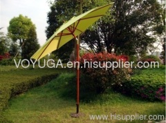 wood patio umbrella with tilt