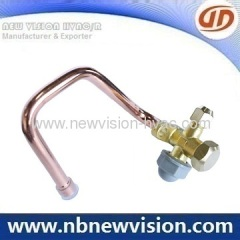 Central Air Conditioner Service Valves - Brass Flare Nut & Bend Tube