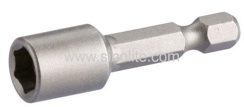 Magnetic nut setter for hex head screws
