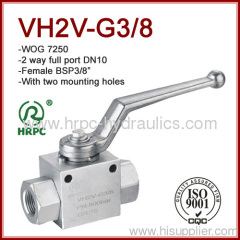 3/8 inch high pressure 7250psi two way full port ball valve female thread dn10