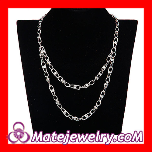 Double Layered Crystal Chain Necklace