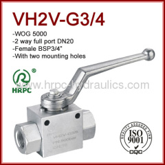 Europe exporting good hydraulic oil ball valve manual operate 2 way full port