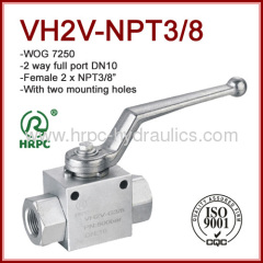 NPT female thread 3/8 inch high pressure 7250psi ningbo ball valve manufacturer