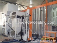 semi-automatic powder spray room secondary recycling system