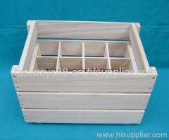 cheap wooden wine crate