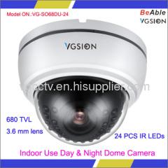 Intelligent IR Indoor Use Day & Night Dome Camera