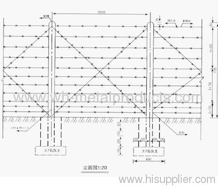 Barbed Wire Fence Installation Anping County Wanhai Metal Products