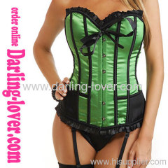 Hot Sale Wholesale Sexy Green Corset